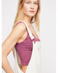 Free People - Washed Seamless Crop - Lyst