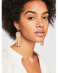 Free People - Western Leather Earrings - Lyst