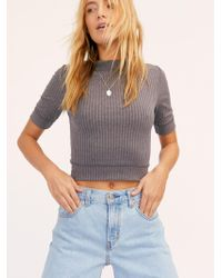 Free People - Merci Mock Neck Tee By Intimately - Lyst