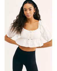 ad5e486aca Lyst - Free People Smock It To Me Crop By Intimately in White