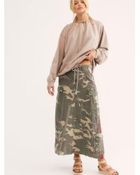 Free People - Military Long Skirt By Da-nang - Lyst