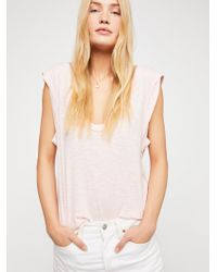 Free People - We The Free Cleo Tee - Lyst