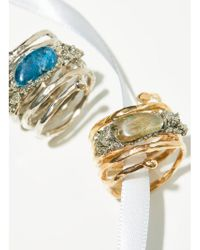 Free People | Twisted Raw Stones Ring | Lyst