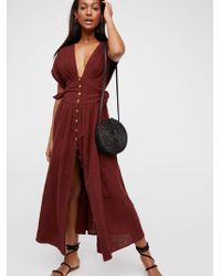 Free People - Jacinta Midi Dress By Endless Summer - Lyst