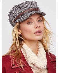 Free People | Riley Stripe Lieutenant Hat | Lyst