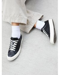 Free People - Premium Leather Low Top Trainers - Lyst
