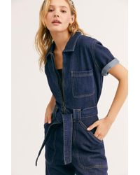 Free People - Wrangler Denim Coveralls - Lyst
