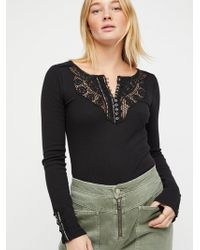 Free People - Dream On Henley - Lyst