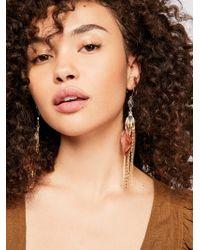 Free People - Majorelle Feather Earrings - Lyst