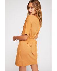 Free People - Chantilly Mini T-shirt Dress - Lyst