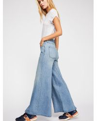 Free People - Martha Extreme Wide-leg Jeans - Lyst