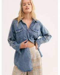 Free People - Desert Bones Embroidered Shirt Dress By Oneteaspoon - Lyst