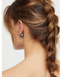 Free People - Double Sided Orbit Stud Earrings - Lyst