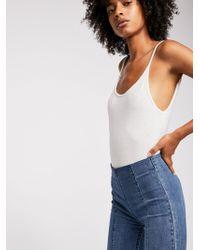 Free People - Slim Kick Flared Jeans - Lyst