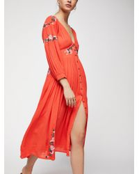 Free People - Day Glow Midi Dress - Lyst