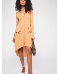 Free People - Ribbed Up Maxi Cardigan - Lyst