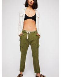 Free People - Safari Cargo Trousers - Lyst