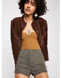Free People - Luna Denim High Rise Shorts - Lyst