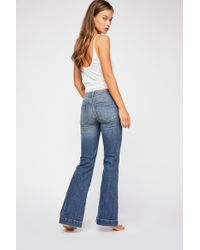 Free People - Embry Low-rise Flare Jeans - Lyst