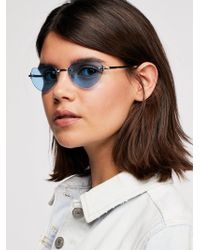 Free People - Bottom Of My Heart Sunglasses - Lyst