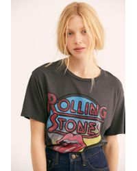 Free People - Rolling Stones Retro Tee By Daydreamer - Lyst