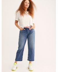 Free People - Krista Mid-rise Boyfriend Jeans By We The Free - Lyst