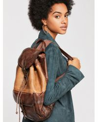 Free People - Seville Leather Backpack - Lyst
