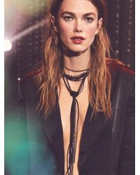 Free People | Leather X Raw Stone Bolo Necklace | Lyst