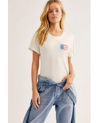 d004385fc Free People Nirvana Tee in White - Lyst