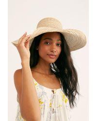 Free People - Hailey Wide Brim Straw Hat By Brixton - Lyst