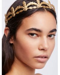 Free People - Lilliana Gold Halo - Lyst