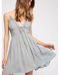Free People - First Love Fit & Flare Mini Dress - Lyst
