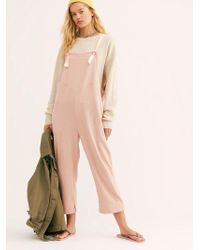 Free People - Lucy Overalls - Lyst