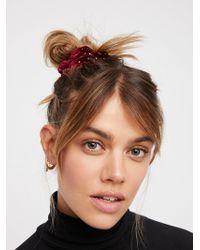 Free People - Studded Velvet Scrunchie - Lyst