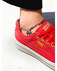 Free People - Delicate Charm Anklet - Lyst