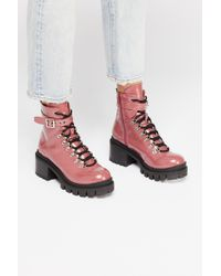 Free People - Check Lace-up Boot By Jeffrey Campbell - Lyst