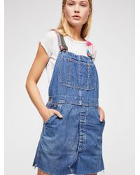Free People - Tricia Fix Reworked Denim Overalls - Lyst