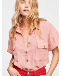 Free People - A Chill Day Shirt - Lyst