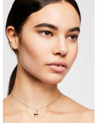 Free People - Scripted Locket Necklace - Lyst