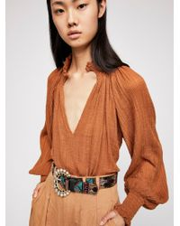 Free People - Lola Embroidered Belt - Lyst