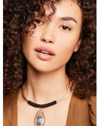 Free People - Etched In Stone Collar Necklace - Lyst