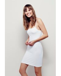 Free People - Seamless Low Back Mini Slip By Intimately - Lyst