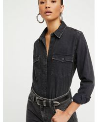 Free People - Levi's '70s Western Buttondown - Lyst