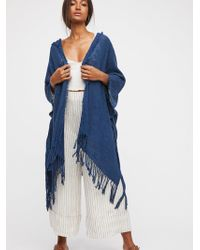 Free People - Point Breeze Hooded Kimono - Lyst
