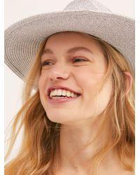 Free People - Silver Linings Straw Hat - Lyst
