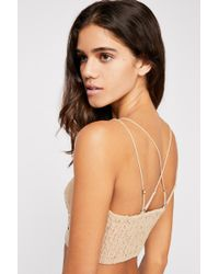Free People - Flocked Velvet Adella Bralette By Fp One - Lyst
