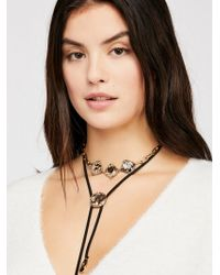 Free People - Behind The Sun Bolo Necklace - Lyst