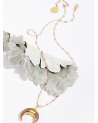 Free People - Electroplated Natural Charm Necklace - Lyst
