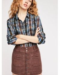 Free People - Joanie Cord Skirt By We The Free - Lyst