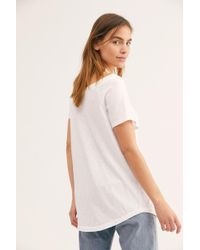 b2d889aa7 Free People Allman Brothers Band V-neck Tee in White - Lyst